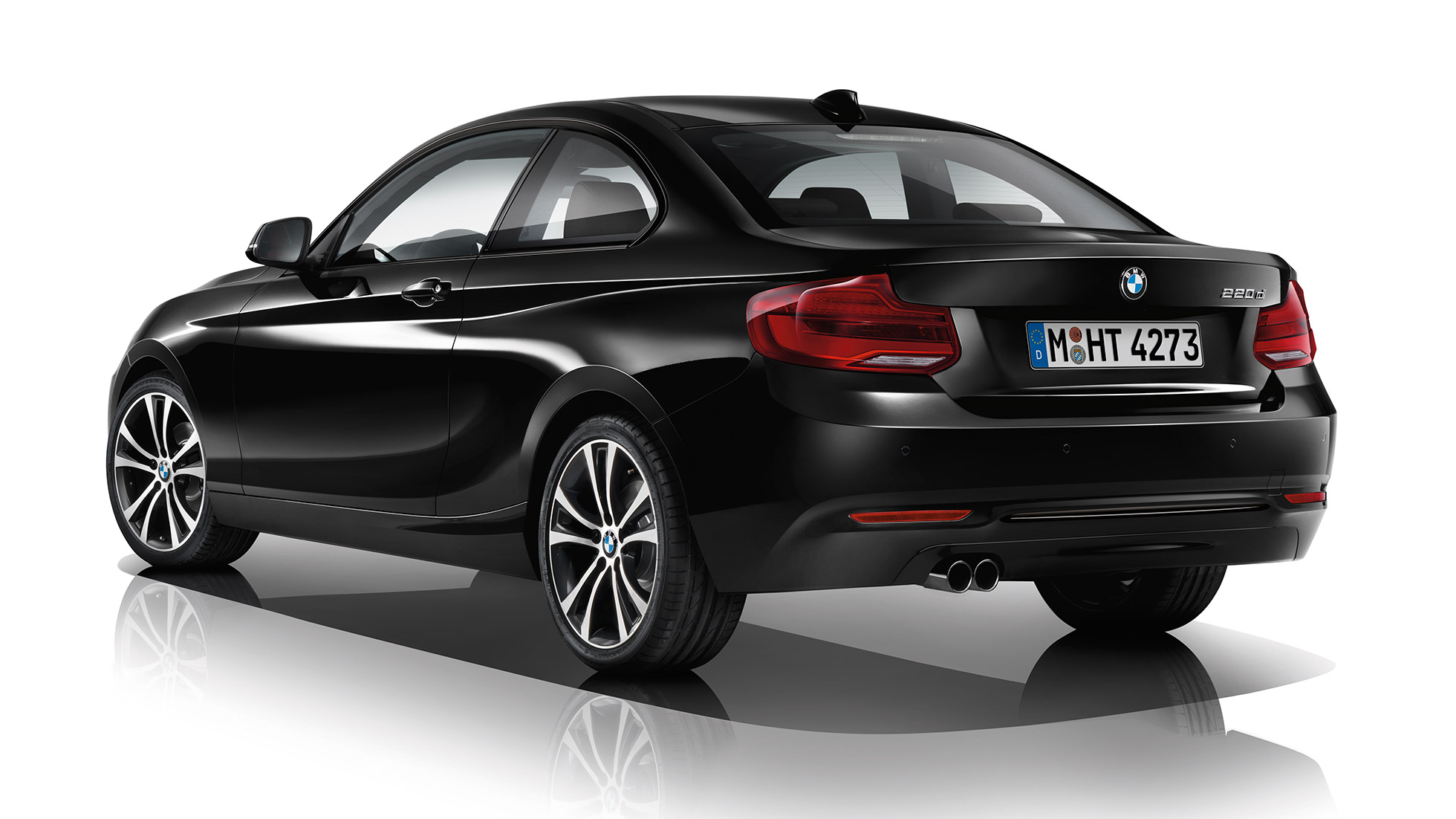 BMW 2-serie Coupé, Model Sport Line, set bagfra let drejet