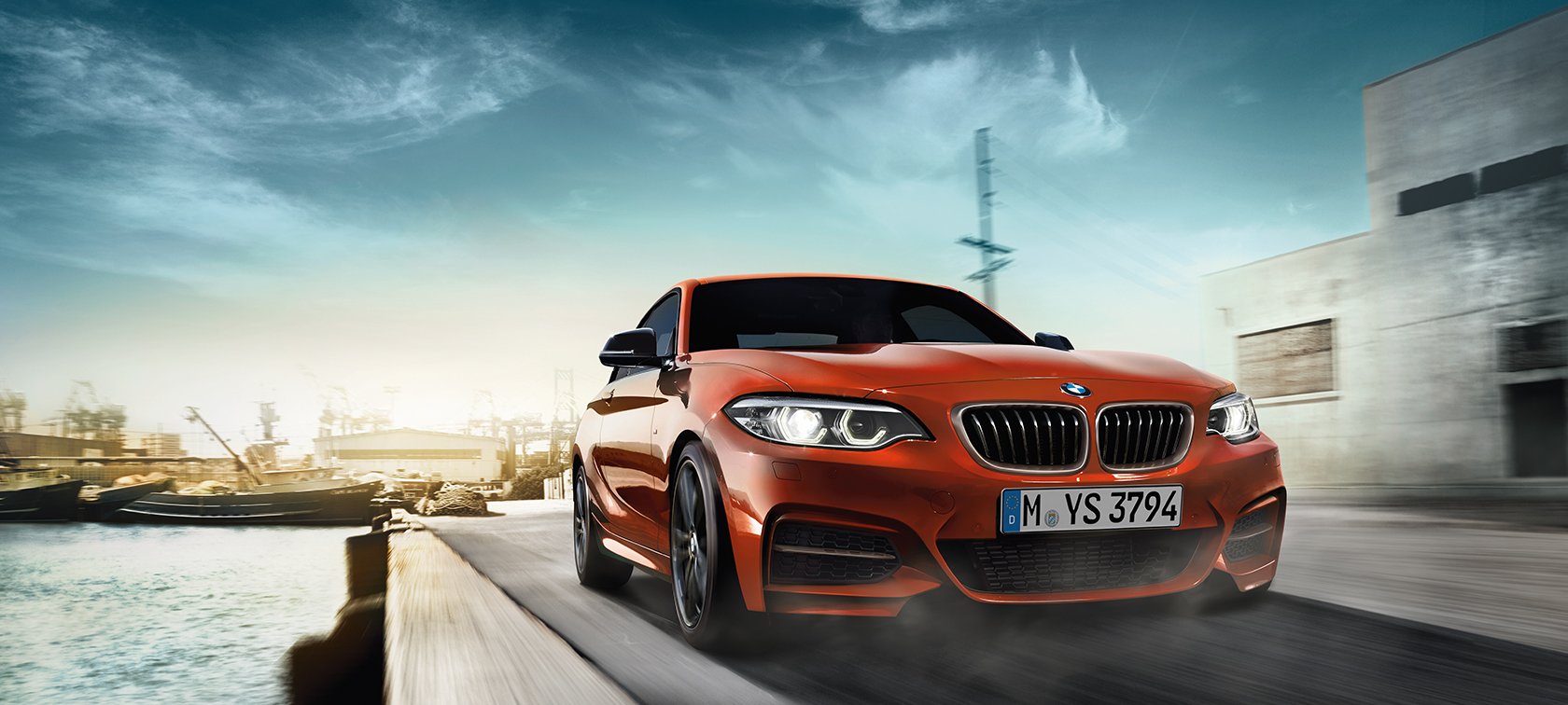 BMW 2-serie Coupé, set forfra let drejet