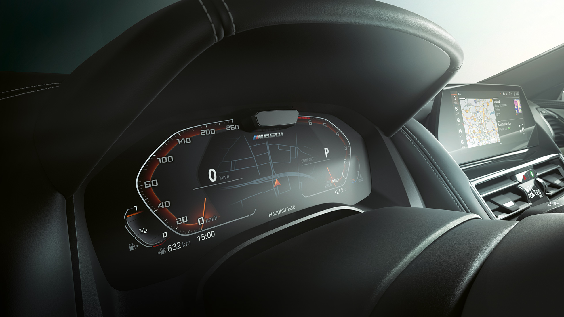 BMW M850i xDrive, instrumentdisplay, Driving Assistant Plus.